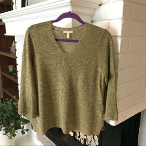 Eileen Fisher 100% Cotton Sweater Top